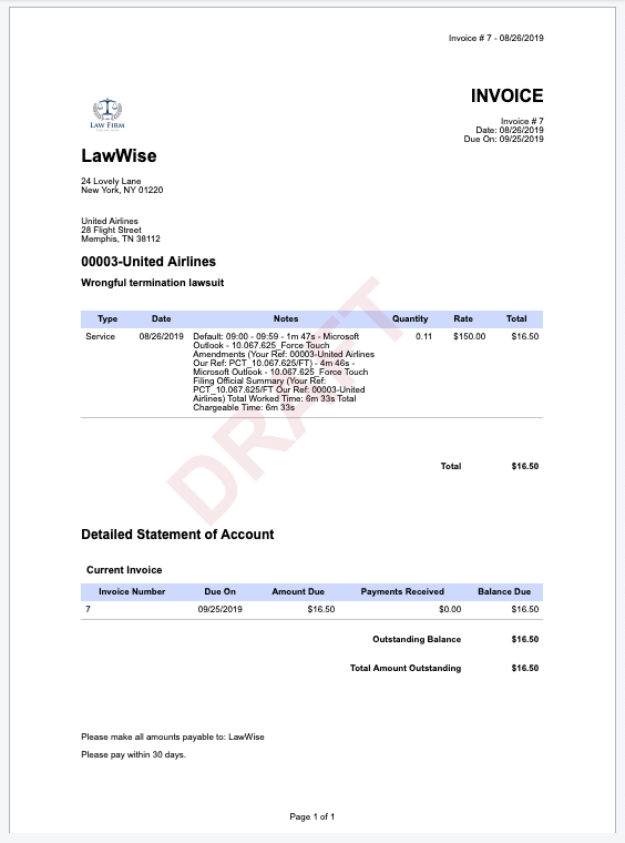 Effortlessly create detailed invoices