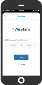 Add time to your WiseTime timeline without leaving your inbox